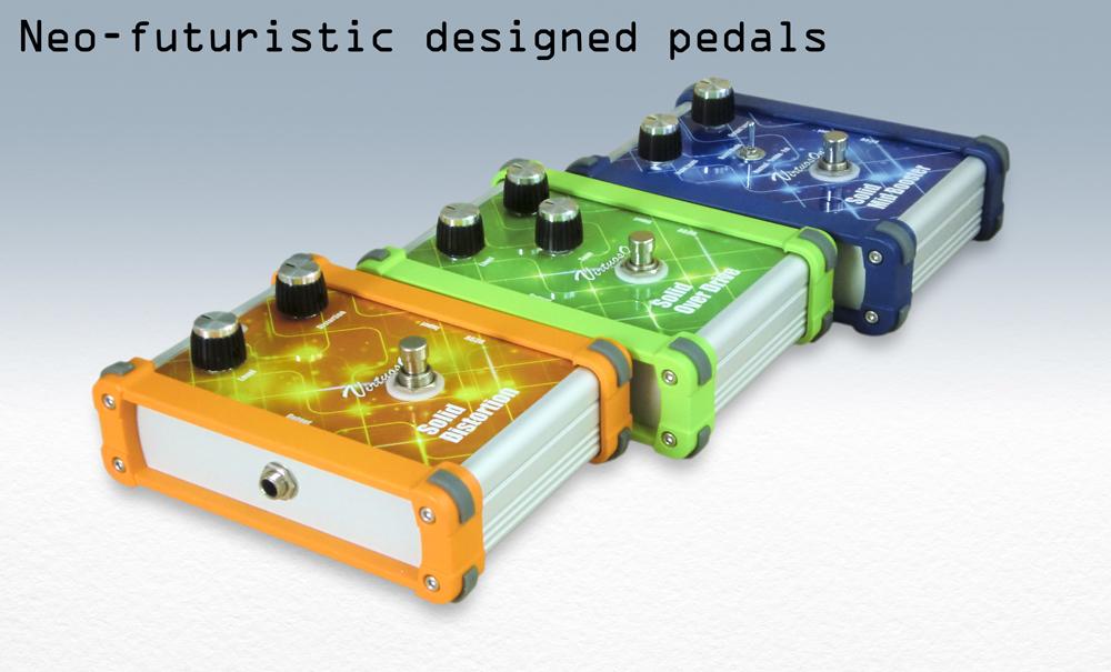 Neo-futuristic designed pedals